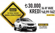 Mayıs Ayı Peugeot 2008 Crossover Satış Kampanyası