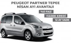 2014 Nisan Ayı Peugeot Partner Tepee Kampanyası
