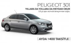 Ayda 400 TL Taksitle Peugeot 301 Kampanyası 2014