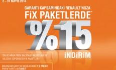 Renault Fix Paketlerde %15 İndirim Kampanyası