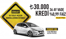 Mayıs Ayı Peugeot 208 Satış Kampanyası