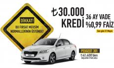 Mayıs Ayı Peugeot 301 Satış Kampanyası
