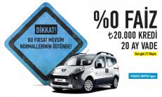 Mayıs Ayı Peugeot Bipper Tepee Satış Kampanyası