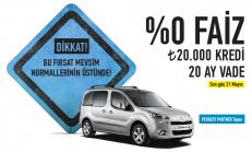 Mayıs Ayı Peugeot Partner Tepee Satış Kampanyası