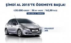 Peugeot 208 Şimdi Al 2015'te Öde Kampanyası