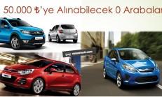 40.000 ve 50.000 TL'ye Kadar Alınabilecek En İyi Sıfır Araçlar