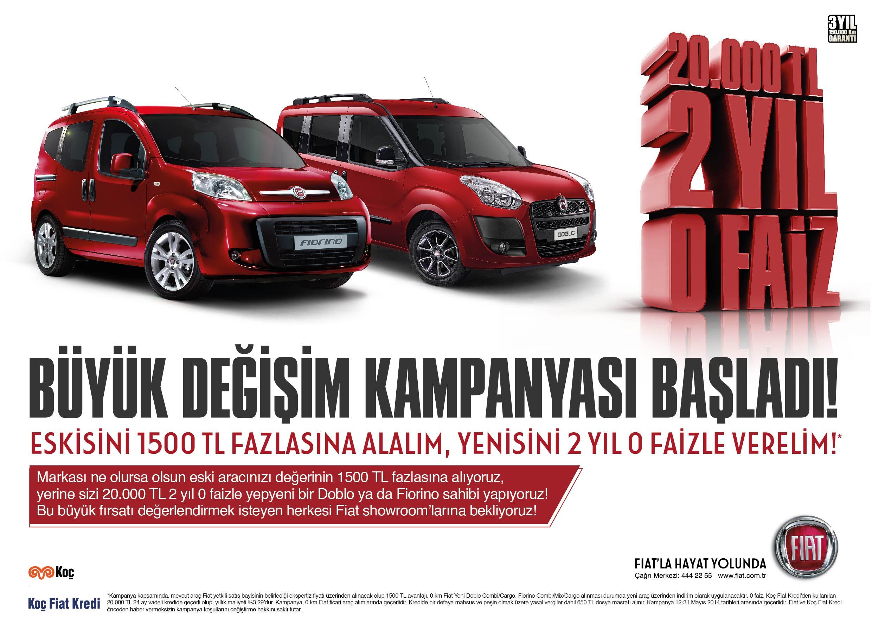 Fiat Mayıs Ayı Kampanyaları Uygun Taşıt
